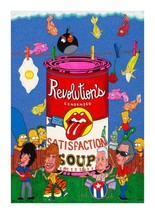 "Satisfaction Revolution on Canvas by Juan Manuel -  Size: 24""L x 36""W x ... - $180.00"