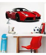 3D Ferrari T046 Car Wallpaper Mural Poster Transport Wall Stickers Sunday - $29.65+