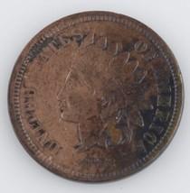 1872 Indien Tête Cents VF Pièce de Monnaie Très Rare Date - $359.07