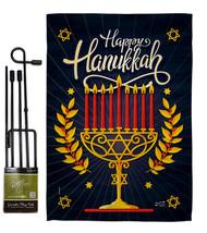 Happy Hanukkah - Impressions Decorative Metal Garden Pole Flag Set GS137... - $27.97