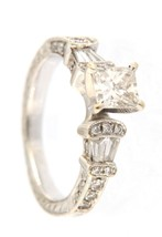 Women's 18kt White Gold Solitaire ring - $2,199.00