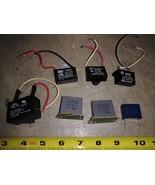8DD62 ASSORTED CAPACITORS, 250VAC CLASS, 7 PCS: 1.5, 2, 2, 2, 4, 4, 10MF... - $21.66