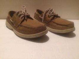 DOCKERS  Darwin 3-Eye Brown Leather Boat Shoes- Mens Sz 8 - $22.75