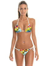 Bikini Swimsuit For Women Two Pieces Sharks Fish High Cut Triangle Bikinis - $25.01