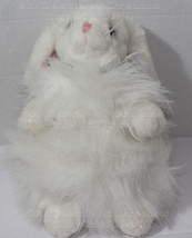 Vintage 2001 TY CLASSICS CASHMERE White Shaggy BUNNY RABBIT BEANIE STUFF... - $6.97