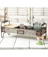 Serving Tray Stand Utensil Holder Galvanized Metal Kitchen Storage Organ... - $58.36