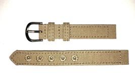 14mm Canvas 2pc Khaki Watch Band Strap - $5.89