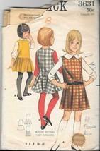 Vintage 1960s Butterick  #3631 Child Jumper Dress - Size 8 - $7.92