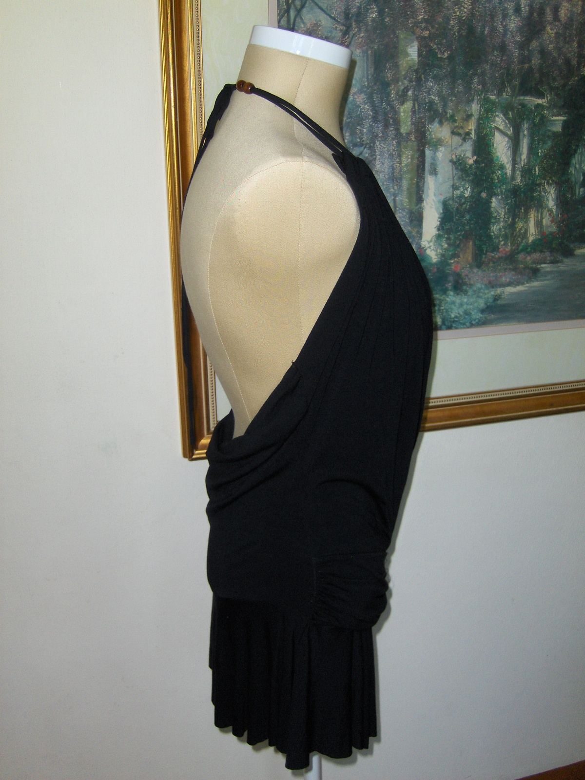 Swank Halter Top Black Strappy Womens Junior Large NWT Q8829