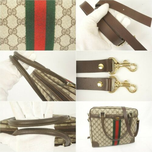 Auth OLD Gucci Accessory Collection Vintage GG Sherry line Shoulder Bag G226
