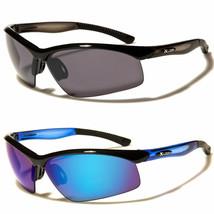 Mens Mirrored Lens Full Frame Wrap Around Sport Cycling Baseball Sunglasses - $8.99