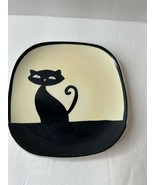"NEW Cat Plate Huesnbrews  4 3/4"" Black Cat Thailand - $8.59"