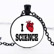 I Love Science Cabochon Necklace >We Combine Shipping< (2543) - $3.71