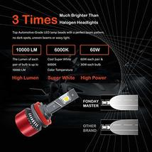 Fonday Master H11/H8/H9 LED Headlight Bulbs, Low Beam/Fog Light, 6000K Bright Wh image 3