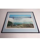 VINTAGE Golden Gate Bridge in the Fog Framed 16x20 Poster Display - $79.19