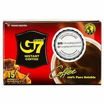 Trung Nguyen G7 Pure Black Instant Coffee - (2gr/sachet x 15 sachets/box) - $8.90