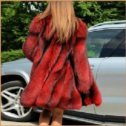 Primary image for  Red Hair Fox Faux Fur Hip Coat Jacket