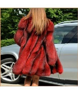 Red Hair Fox Faux Fur Hip Coat Jacket - $189.95