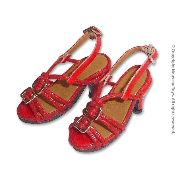 1/6 Phicen, TBLeague, Play Toy, Kumik, NT - Female Red Straps High Heel Shoes - $17.33