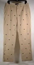 Ralph Lauren Rubgy Mens Skull CrossBone Kahki Pants 34 x 32 - $79.20