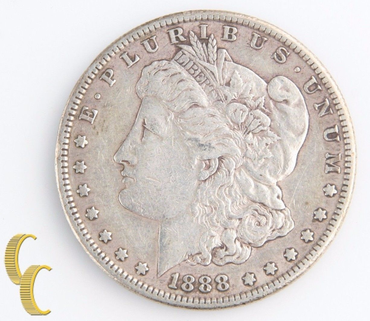 1888-S Morgan Silver Dollar (Very Fine+, VF+) San Francisco Lower Mintage $1 One