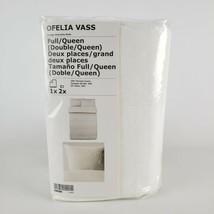 Ikea Ofelia Vass Full/Queen Duvet Cover w/ 2 Pillowcases Dobby Woven White - $59.32