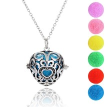 Charm Jewelry Premium Heart Aromatherapy Essential Oil Diffuser Necklace... - $6.00