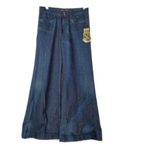 NWT Juicy Couture Jeans Womens Flared Wide Leg Pants Dark Wash 27 x 34 M... - $64.33