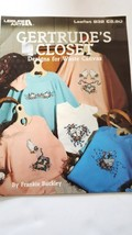 Leisure Arts Counted Cross Stitch  Pattern 832 Gertrudes Closet 1989 Lea... - $1.97