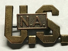 WWI, U.S. NATIONAL ARMY, DRAFTED FORCES, COLLAR DEVICE, PINBACK WITH OPE... - $8.86