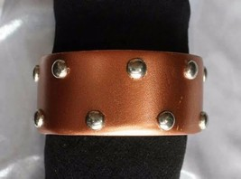 Fabulous Copper-tone with Silvery Dots Bangle Bracelet 1980s vintage - $12.82