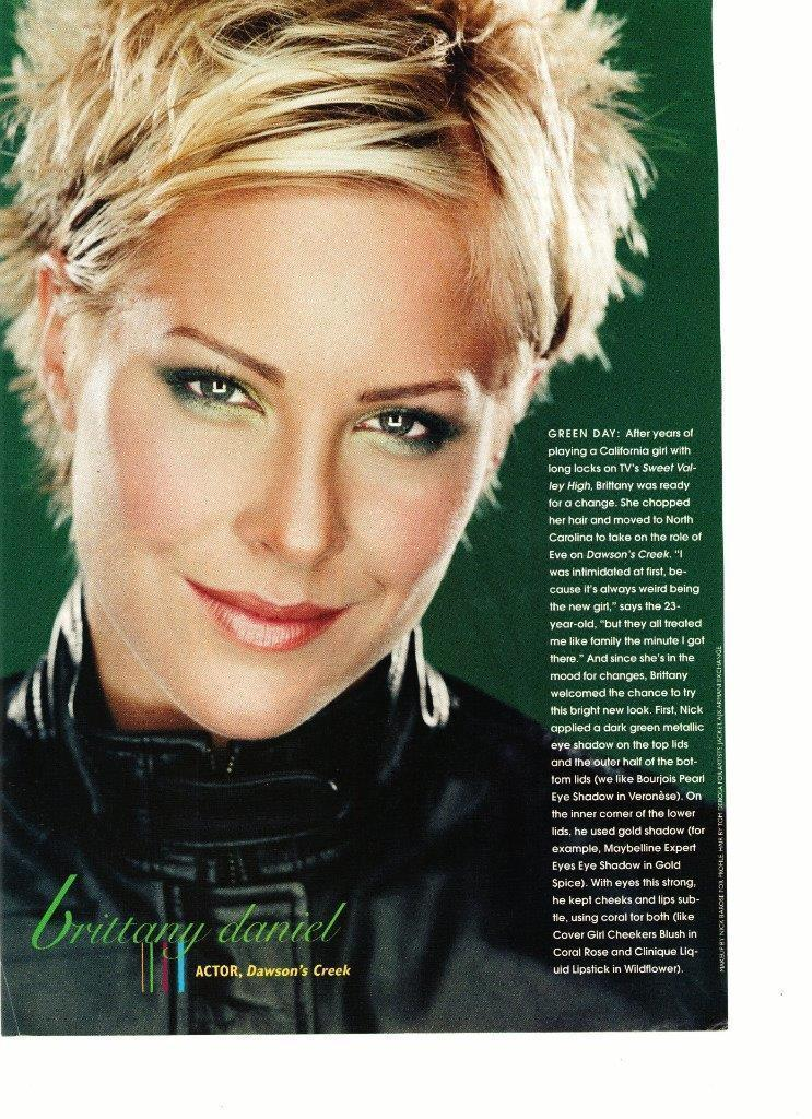 Brittany Daniel teen magazine pinup clipping Sweet Valley High Dawson's Creek