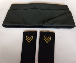 Army Garrison Cap Type II Class 4 Mens Sz 7&1/8 New With 2 Cloth Uniform... - $15.47