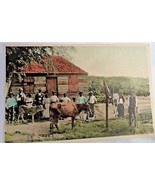 Vintage Barbados Postcard Native Hut Photo circa 1910 Technicolour Carib... - $18.90