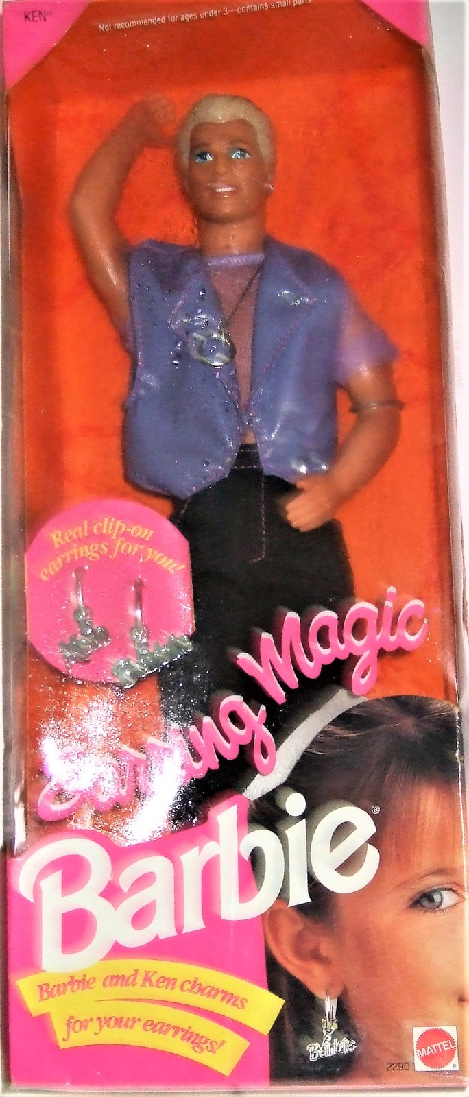 Primary image for Barbie Doll  - Ken DISCONTINUED 1992 Earring Magic Ken Barbie Mattel