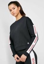 Reebok Women's Linear Logo Crew Sweatshirt Fashion Top Long Sleeve EK135... - $37.32