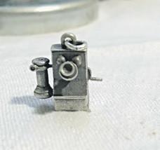 Crank telephone sterling silver bracelet charm Attendance Award Balfour LGB AT&T - $27.16