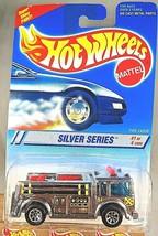 1995 Hot Wheels #322 Silver Series 1/4 FIRE-EATER Fire Truck Chrome w7Sp... - $11.00