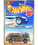 1995 Hot Wheels #322 Silver Series 1/4 FIRE-EATER Fire Truck Chrome w7Sp... - $11.25