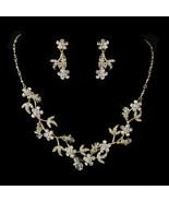 Austrian Crystal Dangle Prom Bridal Wedding Necklace & Earrings Jewelry Set - €69,16 EUR