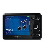 Creative Zen Black 8GB FM VIDEO AAC WMA WAV MP3 Audible Player Expandabl... - $118.79
