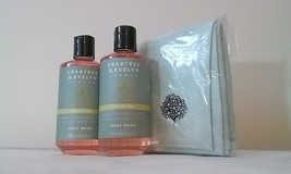 Crabtree & Evelyn London PEAR & PINK MAGNOLIA Uplifting Body Wash 2 wash cloth - $34.60