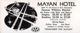 Mayan Hotel Wilshire Los Angeles California Bath w Shower 1956 Travel To... - $10.99