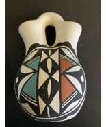Acoma Pueblo Pottery Wedding Vase  - Signed LV - $29.99