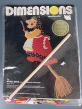 Dimensions Kitchen Witch Needlepoint Kit 2136 5x13 Inches Vintage 1980 USA - $23.21