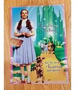 Wizard Of Oz Toto Were Not in Kansas Dorothy Tin Sign 12X17 Made in USA - $24.70