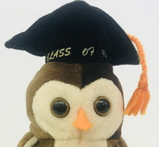 "Ty Wise Owl Class Of 98 Beanie Babie 6"" Date Of Birth May 31 1997 Graduation Tag - $13.99"