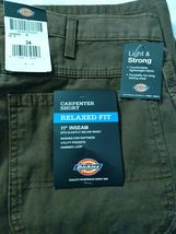 """Dickies Men's 11"""" Relaxed Fit Lightweight Duck Carpenter Shorts image 7"""