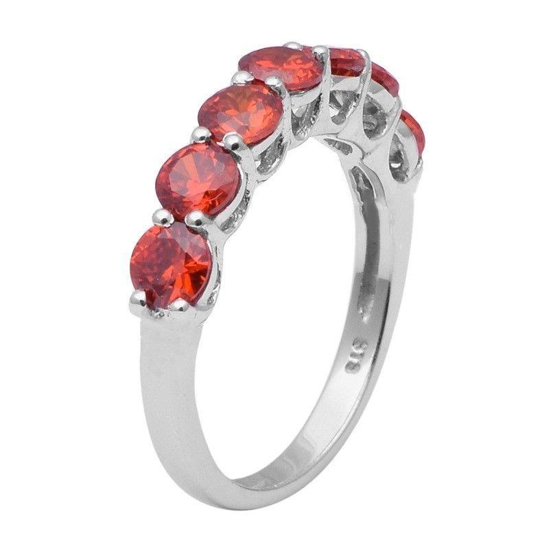 Orange Cz Gemstone 925 Sterling Silver Ring Shine Jewelry Size-8.5 SHRI1411