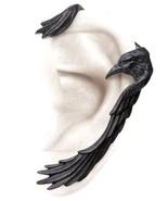 Raven Hug Ear-wing Black Left Ear Wrap Cuff Gothic Earring E355 Alchemy ... - $26.84